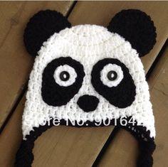 gorros Tejidos oso panda - Buscar Con Google