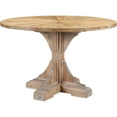 Gather friends and family around this lovely pedestal table to enjoy boisterous brunches and festive special occasions. A whitewashed base adds a touch of co...