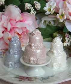 Wedding Cake Soaps....I make these, too!