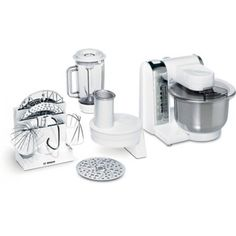 Bosch Kitchen Machine (White and Chrome) Kitchenaid, Robot Thermomix, Stainless Steel Bowl, Kitchen Machine, Cord Storage, Compact Kitchen, Cable, Healthy Crockpot Recipes, Can Opener