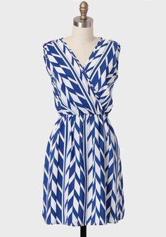 Sea Of Crete Printed Dress