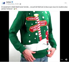Journée du pull de Noël Action Christmas Sweaters, Fashion, I Want You, Moda, Fashion Styles, Christmas Jumper Dress, Fashion Illustrations, Tacky Sweater