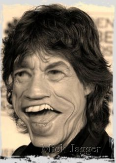Mick Jagger Caricature Watch this!