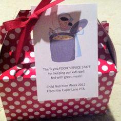 Cafeteria Worker Appreciation Day | PTA | Pinterest ...