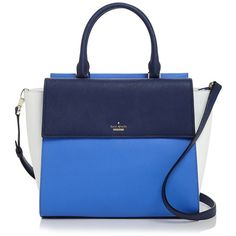 kate spade new york Cameron Street Blakely Satchel (3.712.705 IDR) ❤ liked on Polyvore featuring bags, handbags, satchel purses, kate spade handbag, colorblock satchel, blue handbags and blue satchel handbags
