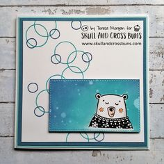 Today I am sharing a couple of cards using some stamps from a lovely company based here in the UK. The company is Skull and Cross Buns Stamps, and I have joined their new DT along with some other s…