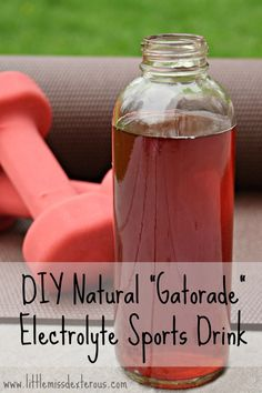 "Need Electrolytes? This healthy DIY Natural ""Gatorade"" Electrolyte Sports Drink will keep you moving in perfect condition, or aid in recovery."
