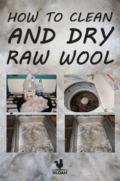 We show you how to clean raw wool from your sheep in two ways: by hand in the sink, or in the washer. You need to know the safety precautions to avoid ruining your wool. Spinning Wool, Hand Spinning, Wet Felting, Needle Felting, Sheep Farm, Hobby Farms, Wool Yarn, Felted Wool, Alpaca Wool