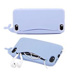 This adorable phone case with a pocket for your headphones! | 27 Adorable Things You Need If You Love Whales