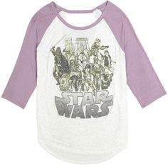 Lavender & Heather Gray 'Star Wars' Raglan Tee - Juniors