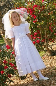 Smocked First Holy Communion dress