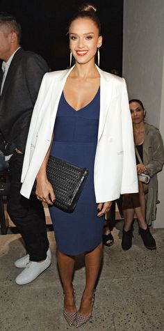 Jessica Alba's Red Carpet Style - In Narciso Rodriguez, 2015 from InStyle.com