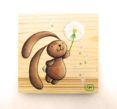 BABY BUNNY DECOR Nursery Dandelion. Baby shower gift by Ciacio