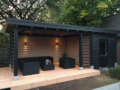 Backyard Storage Sheds, Backyard Sheds, Backyard Patio Designs, Shed Storage, Backyard Landscaping, Backyard Pergola, Pool Shed, Storage Design, Storage Ideas