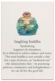 Inside message: Long live the laughing buddha in you. Sanskrit Symbols, Spiritual Symbols, Buddha Symbols, Yi King, Funny Quotes, Life Quotes, Laugh Quotes, Little Buddha, Symbols And Meanings
