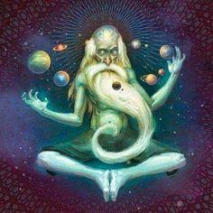 Artwork by Joel Hustak Illustration Trippy Hippie, Mindfulness Art, Arte Peculiar, Psychedelic Space, Mind Unleashed, Acid Trip, Psy Art, Mystique, Visionary Art