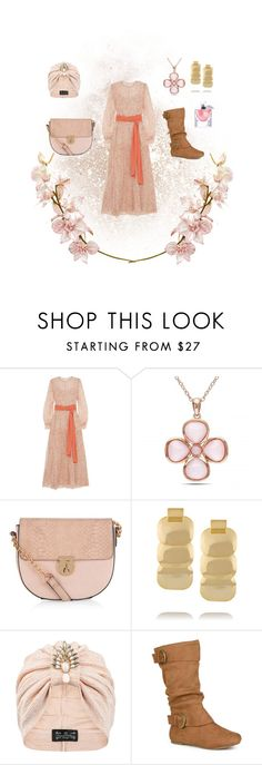 """Glamor of the 70s"" by lhsbonez ❤ liked on Polyvore featuring Jonathan Saunders, Allurez, Accessorize, Kenneth Jay Lane, The Future Heirlooms Boutique, Journee Collection and Lancôme"