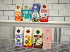 More cartons for the dairy (and non-dairy) shelves. Recolor of Iberika's…