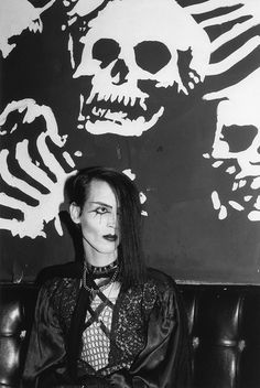 Fishnet and lace were de rigueur in the hallowed halls of Helter Skelter, L.'s goth club extraordinaire. (Photo by Fred H. 80s Goth, Punk Goth, Punk Fashion, Gothic Fashion, Goth Club, Goth Look, Goth Style, Goth Bands, Street Goth