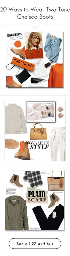 """""""20 Ways to Wear Two-Tone Chelsea Boots"""" by polyvore-editorial ❤ liked on Polyvore featuring waystowear, twotonechelseaboots, Joseph, Madewell, J.Crew, Dickies, Oribe, Urban Decay, Illamasqua and chelseaboots"""