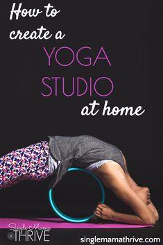 how to create a yoga studio at home