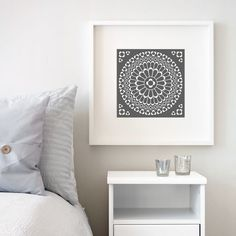 Notre Dame Rose Window Print by Little Brown Pen