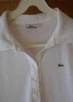 Kup mój przedmiot na #vintedpl http://www.vinted.pl/damska-odziez/koszulki-na-ramiaczkach-koszulki-bez-rekawow/13855165-klasyczna-bluzka-lacoste-biala
