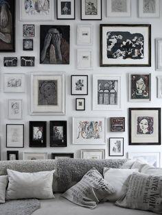 gallery wall   Jenny Grimsgard for Casa Facile