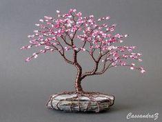 Asimmetrico del fiore di ciliegia di perline Bonsai Mini filo | Etsy