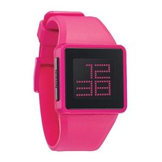Nixon Newton Digital Pink Watch - The Coolest Watches from... ❤ liked on Polyvore featuring jewelry, watches, accessories, relogio, pink digital watches, pink watches, digital wristwatch, nixon jewelry and pink jewelry