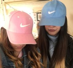 aesthetic, blue, colors, cool, fashion, hats, nike, pastel, pink