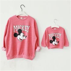 Family Matching Outfits Set Mother and Daughter Clothes Baby and Mom Mickey Shirt Christmas Sweaters Minnie Mouse Dress Hoodies