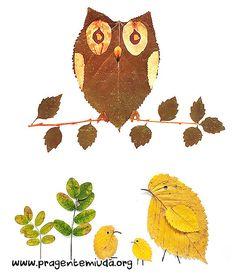 Oi gente!!! Uma super atividade para trabalhar na semana do meio ambiente com sua turma é usar a técnica de colagem de folhas secas ou verdes para montar painéis variados, animais, insetos… este é um meio de falar sobre a conservação do meio ambiente de forma muito divertida! Que tal montarmos um painel do Meio …
