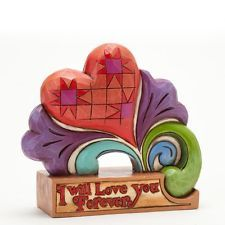 Love Blooms Forever, Love You Forever Heart Figurine By Jim Shore - 4037646 -NIB