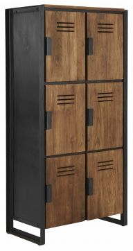 this is a single unit of lockers that seem to be lifted above the ground which could be good for us as we are using MDF. this one has covers though on the cubbies, and looks nice