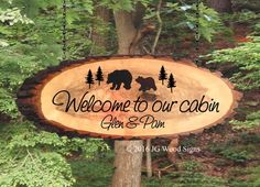 Signs are custom made from redwood and western red and white cedar materials.  We personalize them to your specifications. Great for cabin deck or rv at the campsite.