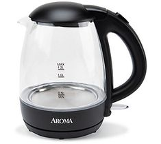 Soothing tea. Hearty oatmeal. Nourishing noodles. At the press of a switch, you'll have boiled water for all this and so much more at a blazing speed. From Aroma. Small Appliances, Kitchen Appliances, Cord Storage, All Stainless Steel, Plastic Glass, Heating Element, Hot Pot, Black Glass, Black