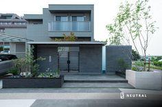 一宮のエクステリア Facade, Gate, Garage Doors, Exterior, Landscape, Outdoor Decor, Plants, Home Decor, Houses