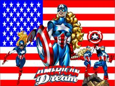 Now here is a wallpaper spotlighting American Dream, another character from the Spider-Girl universe. Dream is the niece of Sharon Carter, Captain America's old flame. She becomes American Dream an...