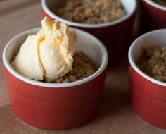 Apple Crisp Recipe from All She Cooks is filled with oats and apples, giving this sweet dessert a huge dose of healthy. Enjoy this simple sweet dish with vanilla ice cream.