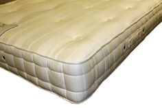 6ft Hypnos Orthos Cashmere Mattress - £1,299.95 - The beautifully crafted mattress features the superb ReActive tm pocket springs which have no less than 10 active turns for relaxing and energising supportive comfort.  The mattress is hand crafted with naturally soft and breathable layers of wool, luxurious cashmere and eOlus sustainable fibre, then covered in a silver infused Belgian damask to provide a fresh and hygenic sleeping surface.