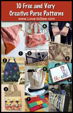 10 Free and Very Creative Purse Patterns