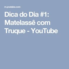 Dica do Dia #1: Matelassê com Truque - YouTube