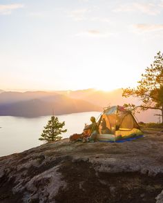 Photo by BC #guestagrammer @davidvassiliev: Howe Sound is by far my favourite place to enjoy a sunset so naturally my friend and I decided to camp out overnight at Tunnel Bluffs to celebrate BC Day. Luckily we were treated to a beautiful sunset an abundance of shooting stars and even some fireworks that we saw all the way in Nanaimo! This hike has some steep terrain for the first half which will exhaust you so bring a lot of water if you plan to attempt it! #exploreBC #exploreCanada