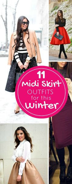 Midi Skirt Winter Outfit Ideas