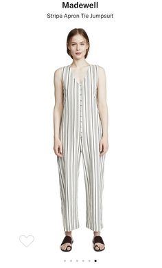 342b7e899374 Free People Striped Apron Tie Jumpsuit  fashion  clothing  shoes   accessories  womensclothing
