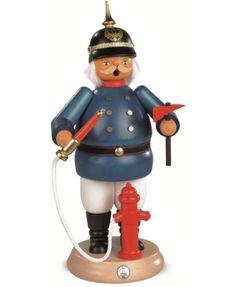 Rauchermann-historischer-Feuerwehrmann-25-cm-hoch-original-Erzg-MU-16625-NEU