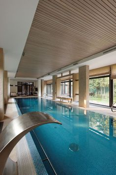 Cool 33 Newest Indoor Swimming Pool Design Ideas That You Need To Try. # You are in the right place about basic pool ideas Here we offer you the most beautiful pictures about the beach pool ideas you Luxury Swimming Pools, Luxury Pools, Indoor Swimming Pools, Swimming Pool Designs, Modern Pools, Pool Houses, House Goals, Villa, Layout