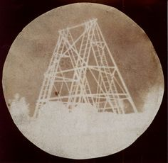 "View of William Herschel's 40-foot telescope at Slough, by Sir John Herschel (1792-1871), 1839. This is the oldest existing photograph taken on glass. Mona Evans, ""John Herschel""  http://www.bellaonline.com/articles/art183381.asp"