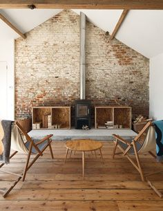 Like the look but don't have a brick wall? Use Faux Brick Wallpaper and create the look!